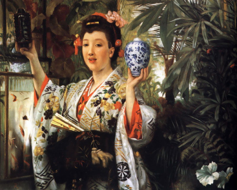 Жак Жозеф Тиссо - Young Lady Holding Japanese Objects